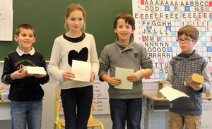 Le podium (de gauche à droite) : Samuel, Manon, Valentin, Antoine-Jean.