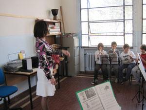 A scuola di flauto.