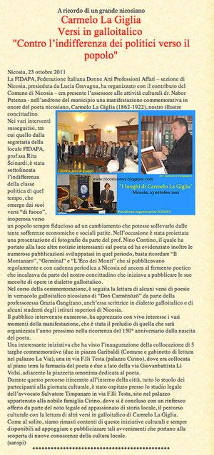 Salvatore Timpanaro http://nicosianews.blogspot.com/  Nicosia news … nicosianews.blogspot.com