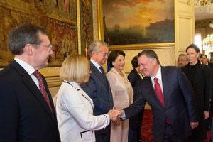 Le Roi de Jordanie reçu au Sénat, 18.09.2014