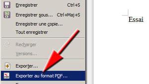 Exporter au format .pdf avec LibreOffice