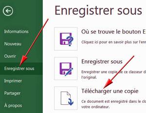 Excel Oneline : télécharger une copie