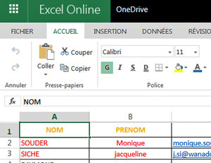 Outils Excel