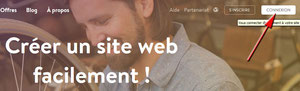 Page accueil site Jimdo