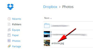 Photo dans Dropbox