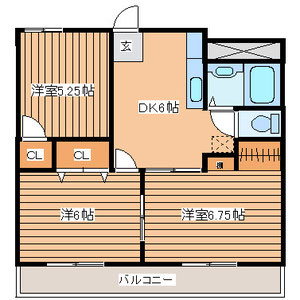 3DK 間取り図