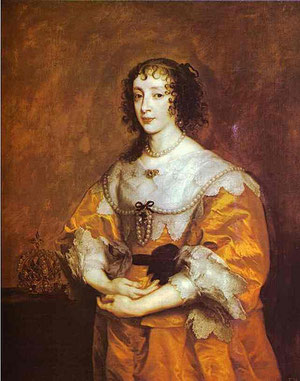Henrietta Maria, Anthony van Dyck, around 1632/5 (flickr, picture by Lisby) Baroque dress, hairstyle