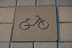 block designed for bicycle lane