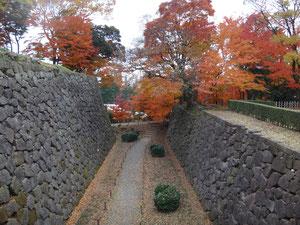 金沢城の空堀