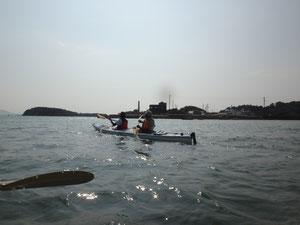 犬島を目指して、おだやかなの海