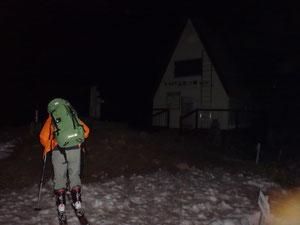 午後11時、氷ノ山頂上小屋