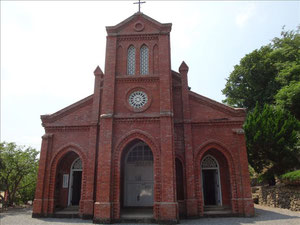 最初の訪問地、堂崎教会