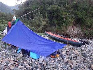 久賀島の浜でキャンプ、満月でした。
