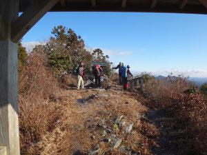 西光寺山頂上