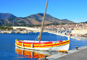 """Barque catalane aux couleurs """"Sanc et Or"""""""