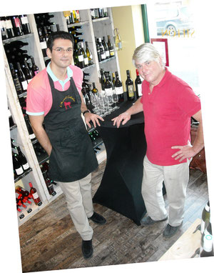 Michael Fernandez et un - petit - visiteur vigneron