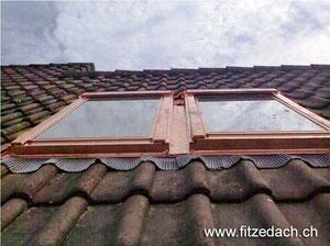 Fitze Dach AG der Dachdecker setzt von Velux Wohnraumdachfenster ein.