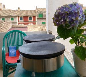 zwei Crêpe-Platten auf Mallorca
