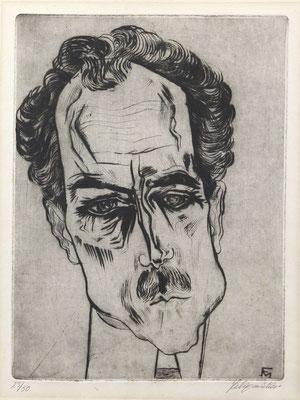 Felixmüller Radierung 'Portrait James Broh' Kunstauktion OWL