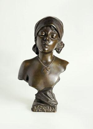 Bronzefigur einer Araberin v. Emmanuel Villanis