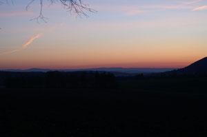 Die Woche beginnt mit einem Sonnenaufgang