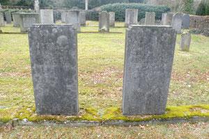 Die Gräber von Anna und Daniel Katz auf dem neuen jüdischen Friedhof in Kassel