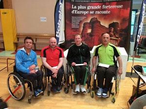 Sébastien et les trois autres finalistes du DH