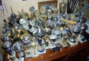 Angesammelt haben sich viele Pokale ...