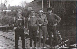 Андреев Андрей(Доцент), Александр Семаев, Слава Астахов(Автор) и Гена Астахов. Так начиналось ветеранское движение.