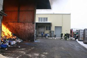 Feuerwehr am Einsatzort. Foto: FF Krems