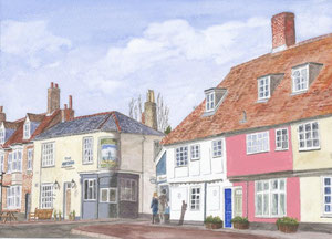 Woodbridge - 'The Anchor' Corner - Quay Street from Station Road