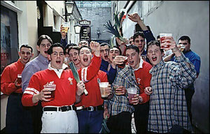 Youngmen at a pub / courtesy of Photolibrary Wales