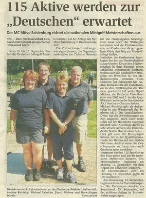 Artikel aus den Cuxhavener Nachrichten vom 21.08.2007