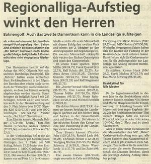 Artikel aus den Cuxhavener Nachrichten vom 24.09.2005