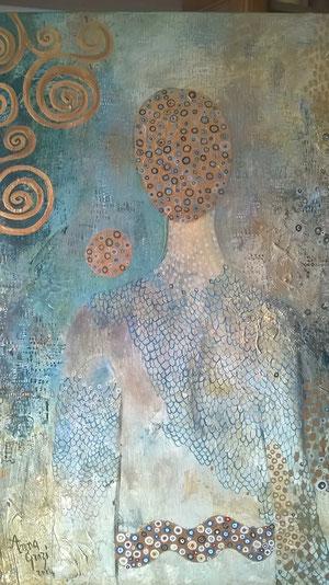Rêveur de mars, huile sur toile, 61 x 46