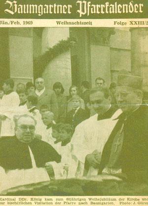 60 Jahre Pfarrkirche St. Anna: Pfarrer März mit Kardinal Franz König