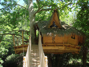 cabane dans les arbres pour un couple