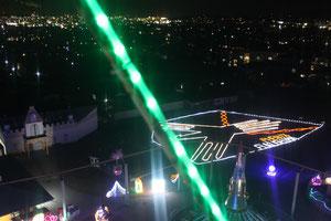観覧車から見る市内の夜景も素晴らしい!