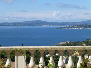 view from the terrace (south facing) over the bay of Saint-Tropez