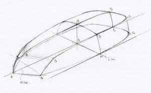 図1)五角形のシェイプ