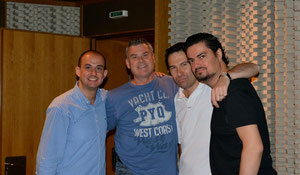 With Franco Fagioli, Giovanni Prosdocimi and George Petrou at Megaron - Athens