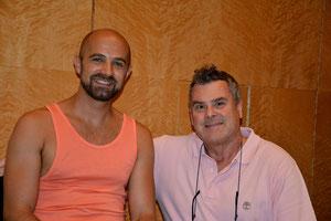 "With Max Emanuel Cencic after his ""Rokoko"" recording in Athens"