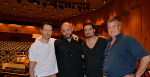 With George Petrou, Xavier Sabata and Giovanni Prosdocimi at Megaron - Athens