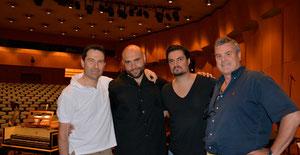 With George Petrou, Xavier Sabata and Giovanni Prosdocimi at Megaron - Athens