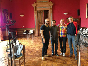 "With Xavier Sabata, Riccardo Minasi and Georg Lang at ""Tamerlano"" in Lonigo"