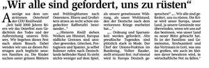 """Auszug aus dem """"Osterbrief"""" der CDU im Knüll (HNA)"""