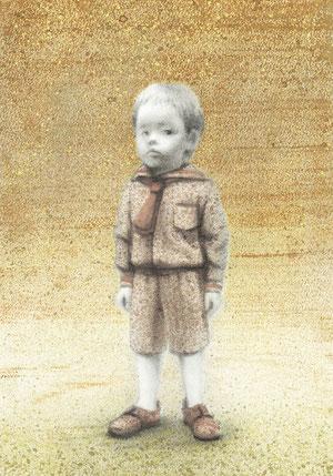 模写 A4 鉛筆・ガッシュ/マーメイド紙