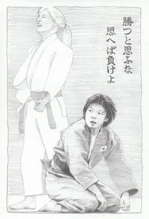 福見選手(A4 紙/鉛筆)