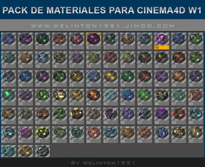 Pack De Materiales Para Cinema4D W1