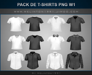 Pack De T-Shirts PNG W1,photoshop · Diseños · Packs · T-shirts · PNG
